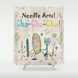 Needle Arts! Cha-Cha-Cha! Shower Curtain