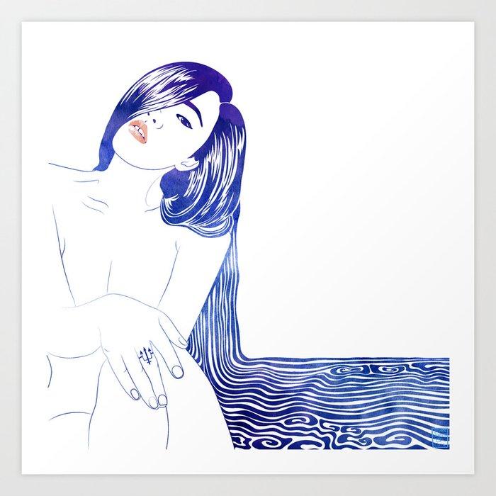 Water Nymph XL Art Print