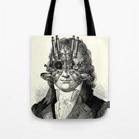 steampunk Tote Bags featuring Steampunk by DIVIDUS