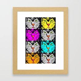 cat faces,visages de chat Framed Art Print