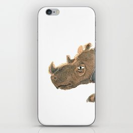 Thinking Rhinoceros iPhone Skin