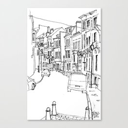 Brussels Streetscape Canvas Print