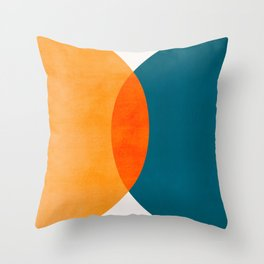 Mid Century Eclipse / Abstract Geometric Throw Pillow