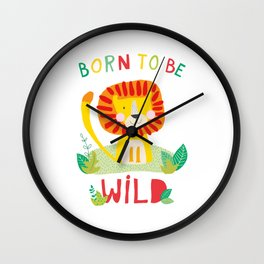 Born to Be Wild Wall Clock