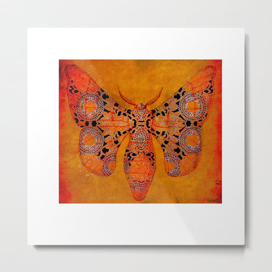 "Le papillon"" Belle époque "" Metal Print"