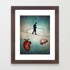 The Balance Framed Art Print