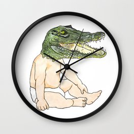 Croc Baby Wall Clock