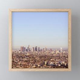 Downtown Los Angeles Skyline - Los Angeles Iconic Framed Mini Art Print