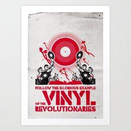 Vinyl Revolution Art Print