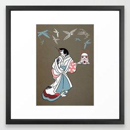 Catfished Framed Art Print