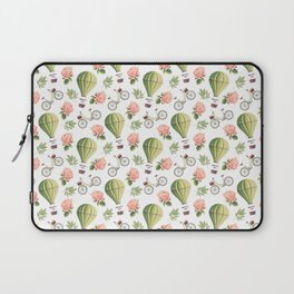 Bicycles Roses and Balloons Pattern Laptop Sleeve
