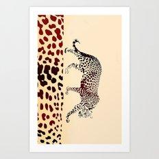 Animal pattern Art Print