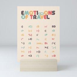 Retro Emoti(c)ons of Travel Typography Poster Mini Art Print