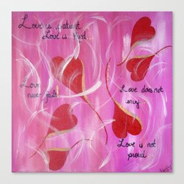 Love is.... Canvas Print