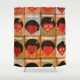 LoVe Cards Shower Curtain