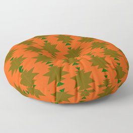 Exotic elements orange blocks Floor Pillow