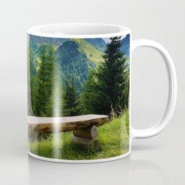 Bench on the mountain Coffee Mug