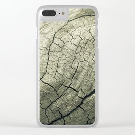 Elephant Wood of Smoothness Clear iPhone Case