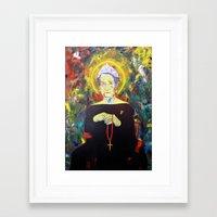 federico babina Framed Art Prints featuring Juan Carlos I as Bernarda Alba. Homage to Federico Garcia Lorca by Antonimo-discipulosinmaestro