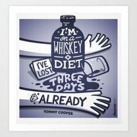 whiskey Art Prints featuring Whiskey by hugraphic