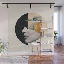 collage art / bird Wall Mural