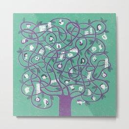 Mesh - tree Metal Print