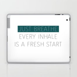 Just Breathe - Teal Typography Laptop & iPad Skin