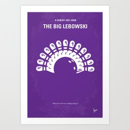 No010 My Big Lebowski MMP Art Print