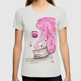 Fashion Illustration Portrait Watercolorpencil T-shirt