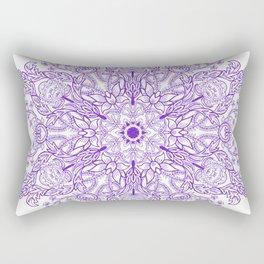 Spring Garden Mandala Bright Ultra Violet Bright Rectangular Pillow