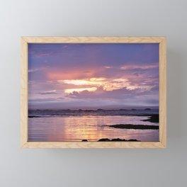 Misty Sunset Framed Mini Art Print