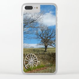 It's A Long Windy Road Clear iPhone Case