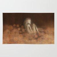 blanket Area & Throw Rugs featuring Flower Blanket by Johanna Velasco