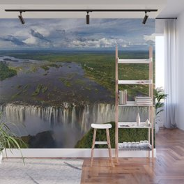 Victoria Falls with Rainbow, Zambia and Zimbabwe, Africa Wall Mural