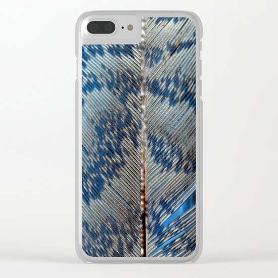 Feather | Feathers | Spiritual | Blue Feather Clear iPhone Case