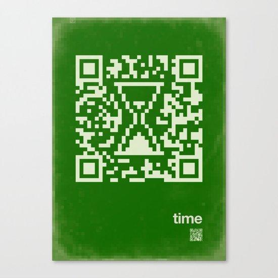 QR time Canvas Print
