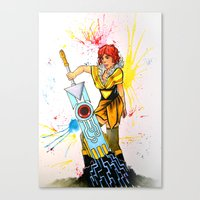 transistor Canvas Prints featuring Red Transistor by Salzburn Designs Shop