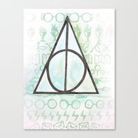 deathly hallows Canvas Prints featuring Deathly Hallows by Carmen McCormick