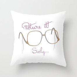 "Sophia ""Picture It"" - The Golden Girls Throw Pillow"