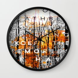 On Our Deathbed #2 Wall Clock