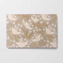 The Birds: Gold Metal Print