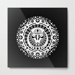 Rajah Sun Metal Print