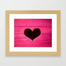Wooden heart - pinkish Framed Art Print