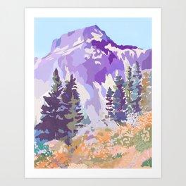 Alpine Lite Art Print