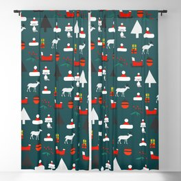 Christmas crowd Blackout Curtain