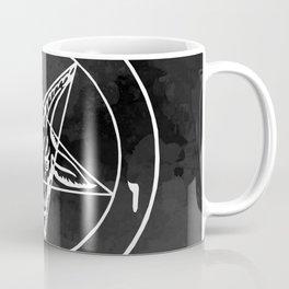 Satanic Pentagram - Black Watercolor Coffee Mug
