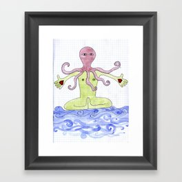 Octopus Man Framed Art Print