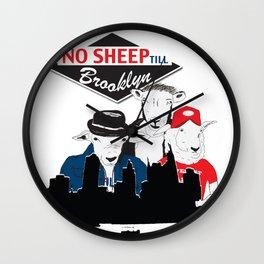 No Sheep Till Brooklyn Wall Clock