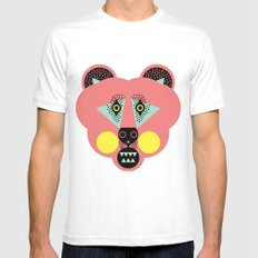 Grizzly Bear Necessities MEDIUM White Mens Fitted Tee