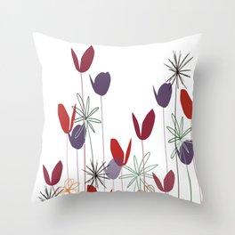 Flowers print, impresion decorativa Throw Pillow